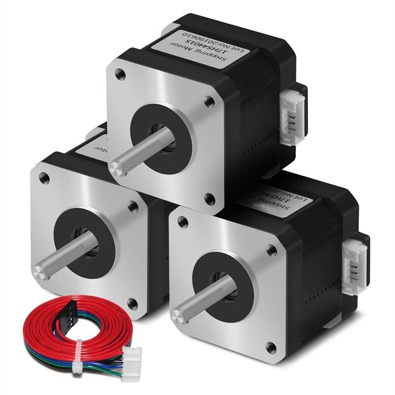 5 pces 17hs4401s velocidade do motor estável 4-lead nema17 motor deslizante 42 motor de baixo nível de ruído 42bygh 1.7a para acessórios da impressora 3d