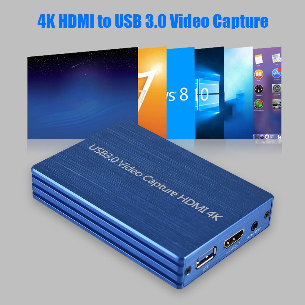 Dispositivo de tarjeta de captura de vídeo HDMI 4K HDMI a USB 3,0 adaptador Dongle 1080P 60fps HD Video grabadora componentes y Hardware de la computadora