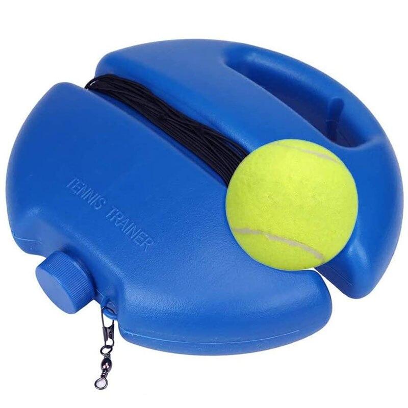 Pelota de rebote de entrenador de tenis con rodapié de cuerda, amortiguador para tenis de auto estudio, herramienta de entrenamiento, equipo de ejercicio