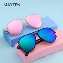 MAYTEN Cute Goggles Kids Pilot Mirror Sunglasses Boys Girls Ultralight Children Sun Glasses UV400 Ey