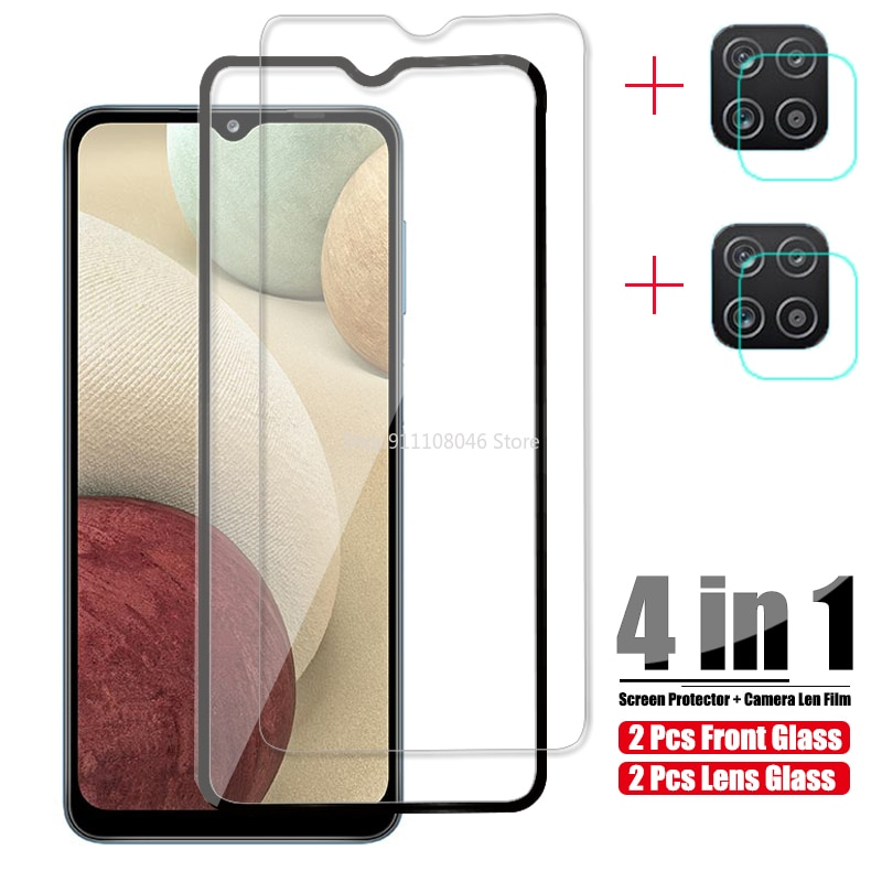 For Samsung Galaxy A12 Tempered Glass For Samsung S20 FE 5G Glass A02S A 12 02S Screen Protective Camera Len Protector Film