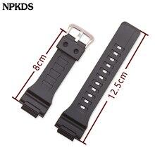 Hommes Bracelet en Silicone pour Casio AQ-S800/AQ-S810W 18mm Sport en acier inoxydable boucle Bracelet Bracelet