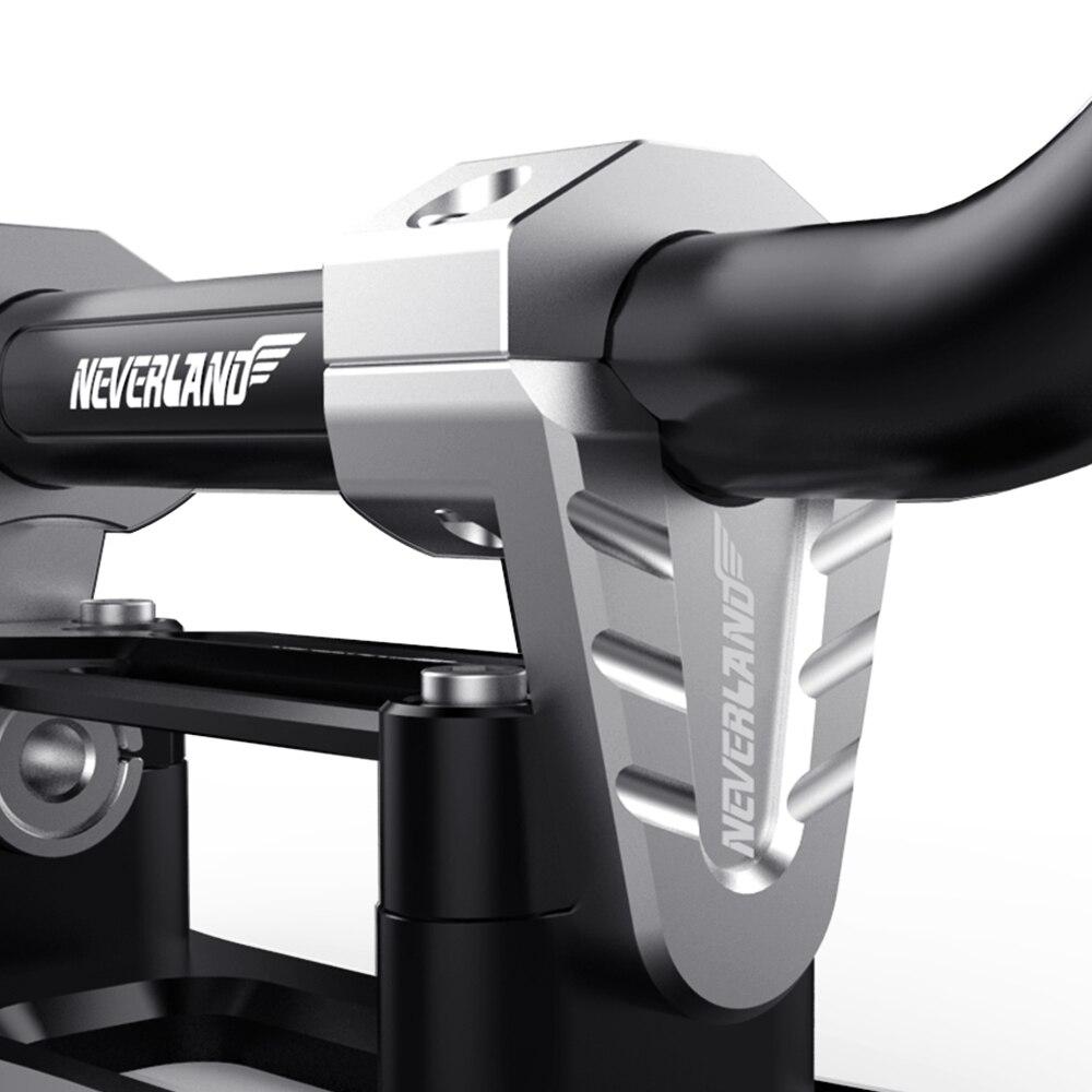 22mm 28mm CNC diseño plateado Riser montaje-abrazaderas de elevadores de manillar frente gordo Bar para Yamaha DDD KTM Suzuki Honda D45