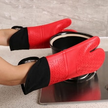 Silicone Heat-Resistant Gloves Cooking Barbecue Gants Silicone Kitchen Microwave Mittens Oven Glove