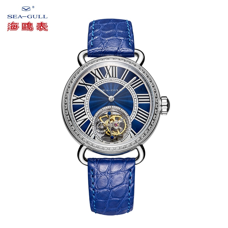 Seagull watch ladies tourbillon mechanical watch manual tourbillon hollow mechanical watch high-end Chinese watch 718.91.6034L