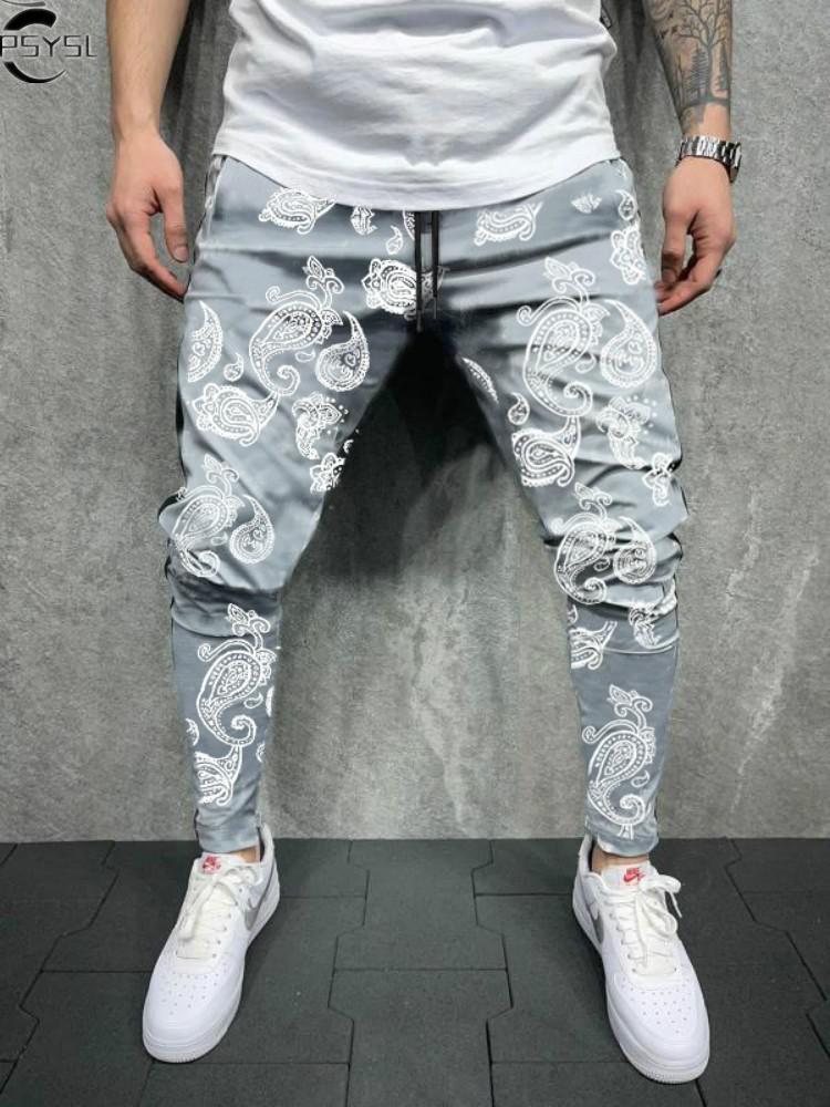 New Fashion Men's Pants Fashion Jogger Sweatpants Korean Man Slimoversized Trousers Funny Streetwear Male Casual Pants 3xl