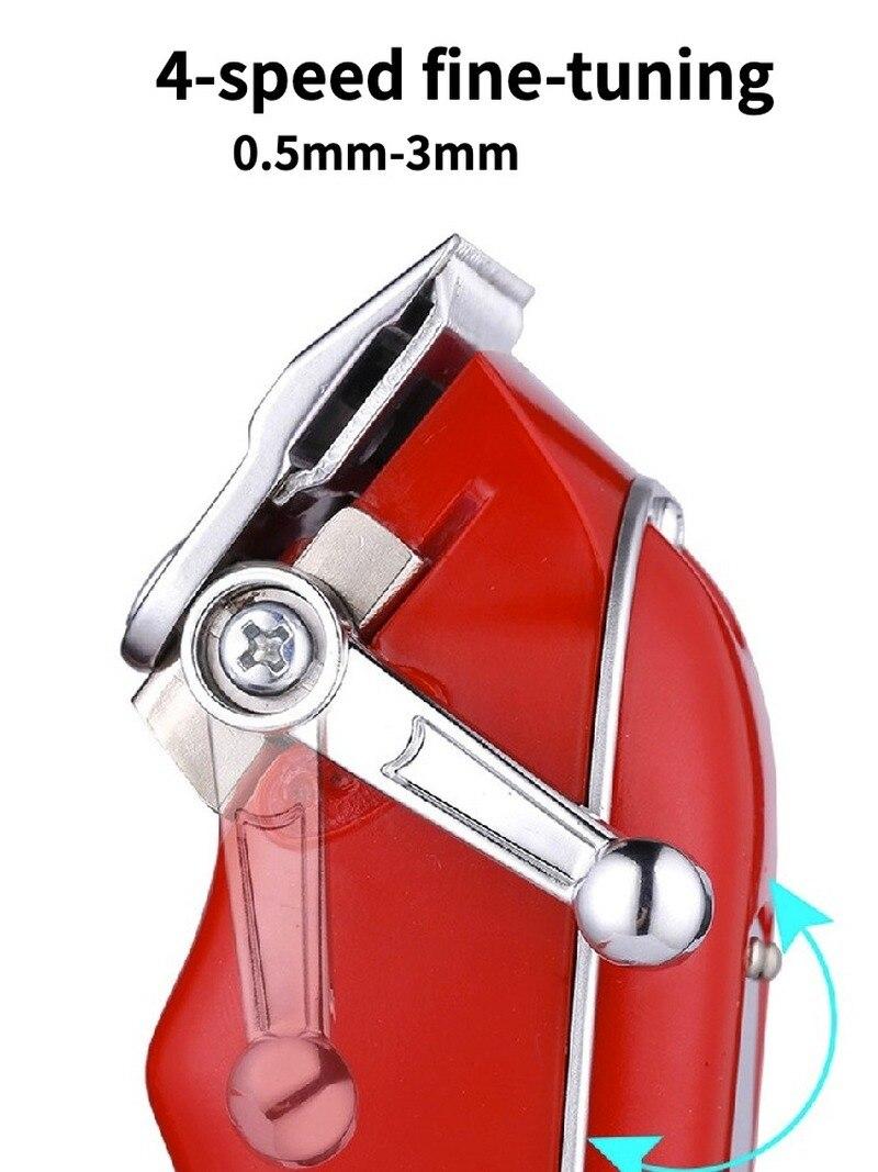 Red Barbershop Cutter Hair Cutting Machine Haircut Cordless Hair Clipper Hair Trimmer Pop Barbers 110-240v enlarge