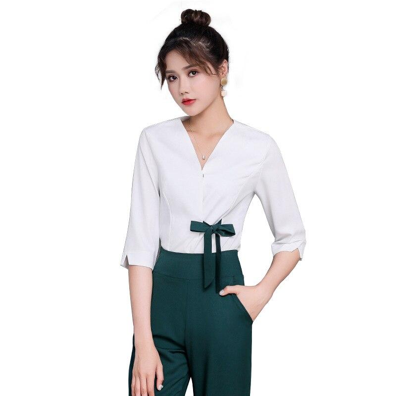 The New beauty uniforms Chinese style Beauty salon beautician uniform spa work clothes women's foot bath sauna clothing set