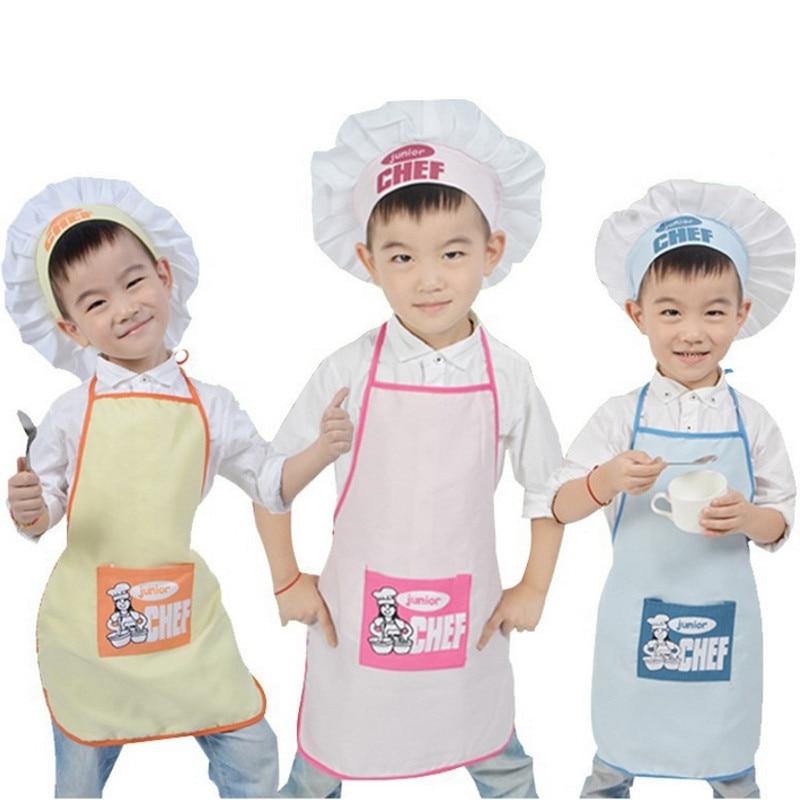 2 шт./компл. Детский фартук шеф-повара, головной убор, карманный набор, Детская кухня, для приготовления пищи, инструмент для еды, семейные кухонные аксессуары