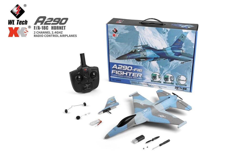 2021 Wltoys A290 F16 طائرة مزودة بجهاز للتحكم عن بُعد 2.4G 3Ch طائرة Epp رغوة طائرة شراعية طائرة تحكم عن بعد ثلاثية الأبعاد/6G نظام مروحية لعبة بدون طيار
