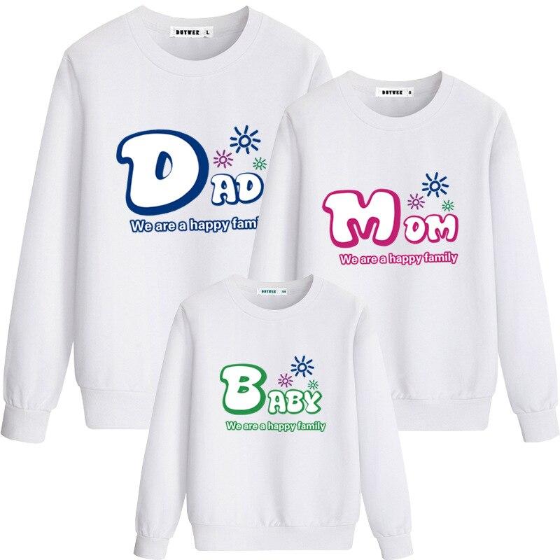 الأسرة مطابقة الملابس نظرة الأب الأم ابنة الابن وتتسابق الملابس T قميص الأم الأب و لي طفل صبي فتاة هوديس CA249