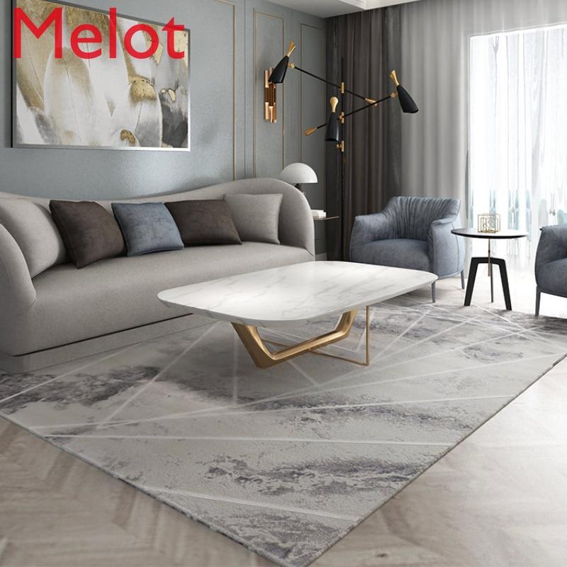سجادة غرفة معيشة خفيفة فاخرة عالية الجودة أريكة رمادية وسجاد سجادة غرفة النوم لهجة الباردة Morandi