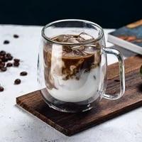 heat resistant double wall coffee glass cup tea set cup beer handmade beer mug wine glass teacup creative champagne glasses