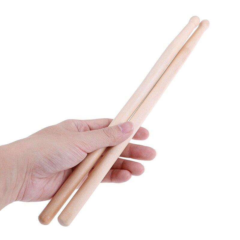 Барабанные палочки из кленового дерева, 2 шт., 32 см, 5 А, барабанные палочки для музыкальной группы, противоскользящие жесткие профессиональн...