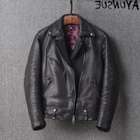 leather suit mens authentic jacket wool jacket authentic sheepskin spring and autumn retro motorcycle