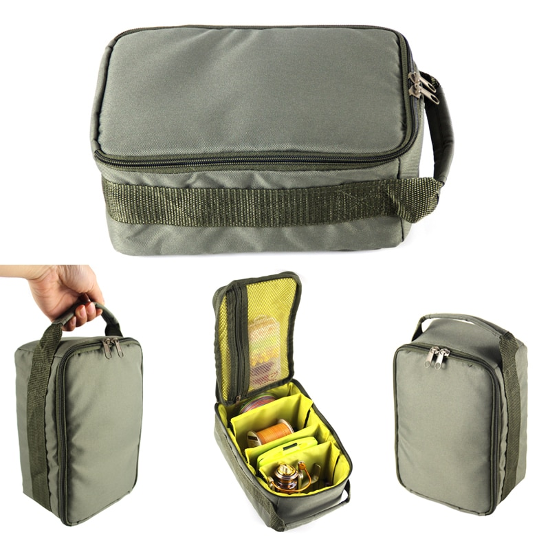 Fishing Reel Bag Oxford Fishing Tackle Bag Portable Fishing Reel & Gear Storage Case for Spinning Ba