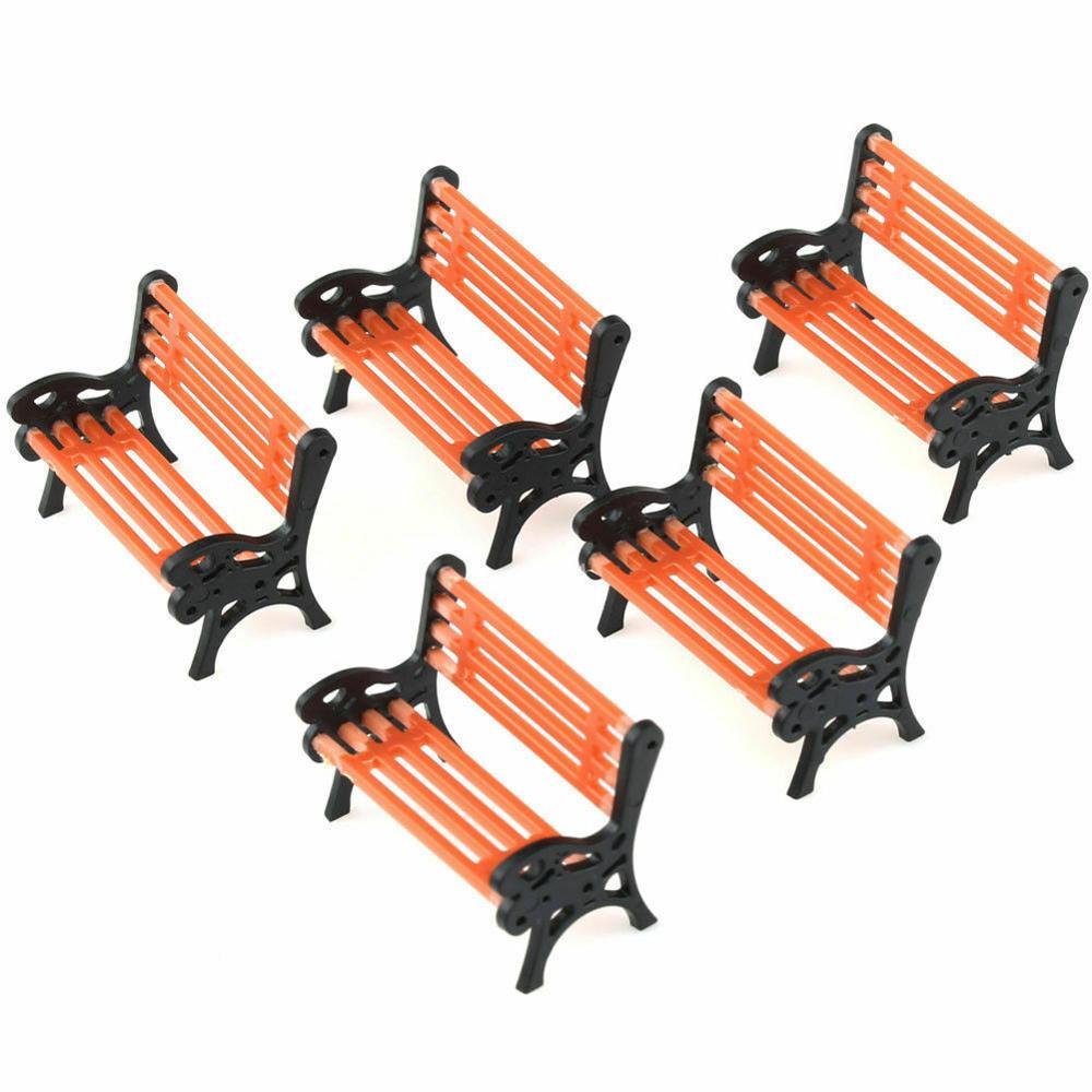 5 uds 150 modelo de plataforma de la Calle Park bancos asientos tren diseño o/bl traje OO escala moderno