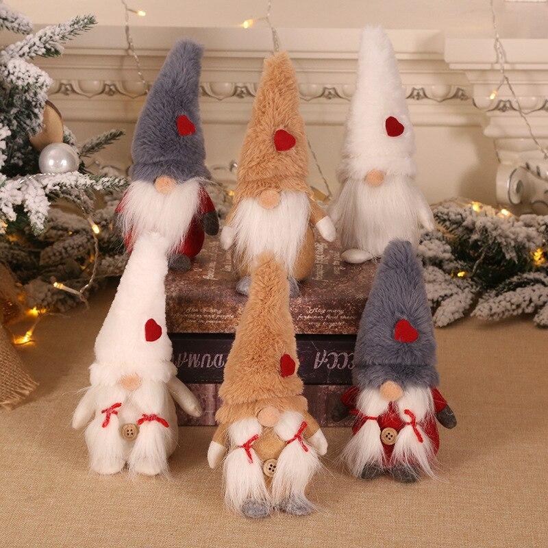 Año Nuevo 2021, adornos navideños para el hogar, gnomo sin rostro, regalo de navidad, decoración del hogar, decoraciones navideñas, regalo de navidad