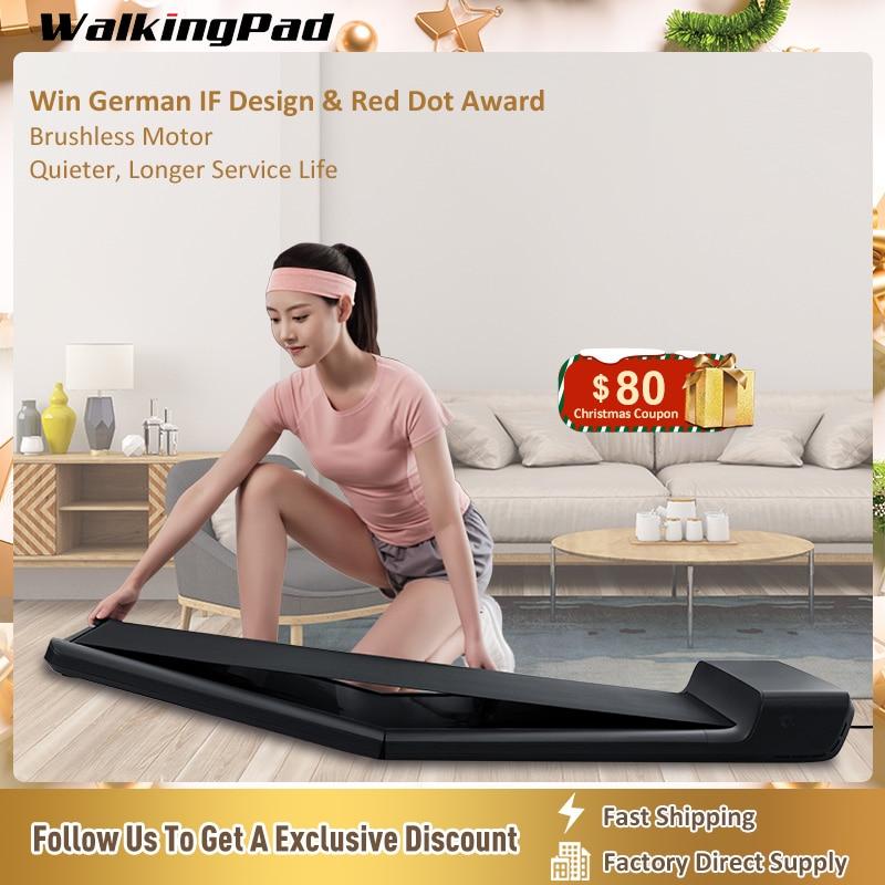 WalkingPad Treadmill Walk A1 Pro Under Desk Folding Quiet Walking Pad Device Footstep Control Speed Remote Control Workout Home недорого