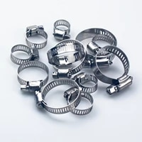 5pcs 6mm 25mm stainless steel mini fuel line pipe hose clamp clip optional size for air hose water pipe fuel hose silicone