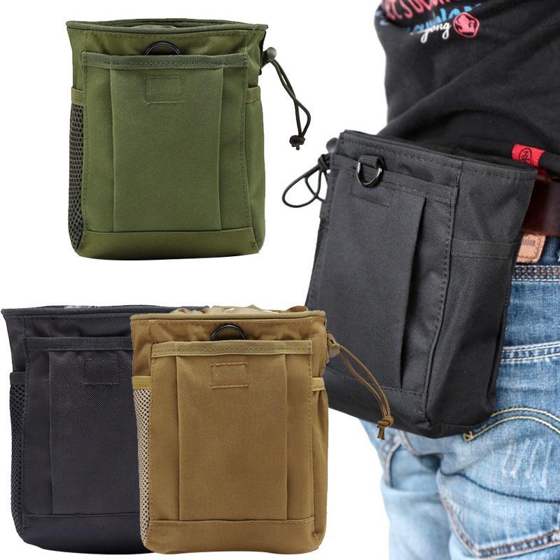 3 cores oxford pano de acampamento bolso cintura bolsa cartucho saco durável ao ar livre diy campo piquenique sobrevivência cordão caça