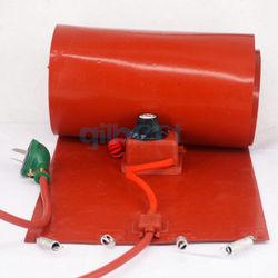 20l (4.4 galões) 110v 200x860x1.6mm 800w silicone rubberband tambor aquecedor óleo biodiesel barril