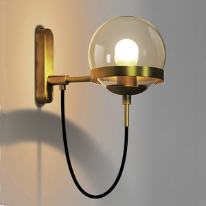 Modern Wall Lamp Nordic Glass Ball Lighting Fixtures Golden Hanging Living Bedroom Home Decoration Sconces Suspection Luminaire