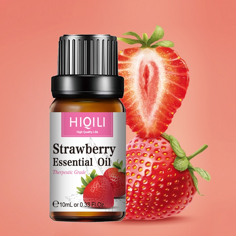 HIQILI Strawberry Fragrance Oil 10ML Diffuser Aroma Essential Oil Coconut Apple Mango Watermelon Che