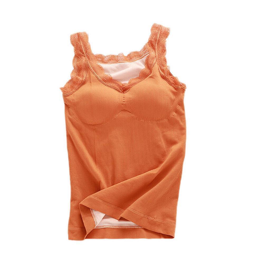 2021 Winter Warm Lace Top Vest Women's Lace Slim Plus Thermal Tops Fleece Lace Top Plus Thick Tank Size Women Vest Velvet I1Q3