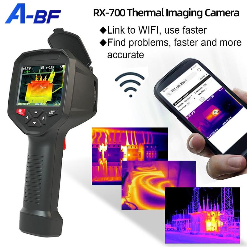 A-BF RX-700 الحرارية التصوير كاميرا WIFI -20 °C ~ 550 °C الأشعة تحت الحمراء الحرارية تصوير للهاتف 384*288 بكسل ميزان الحرارة
