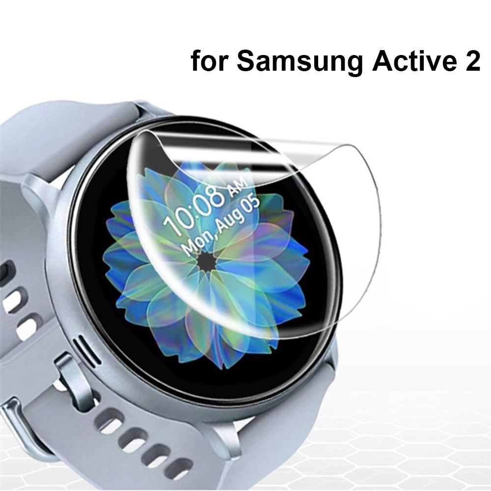 2pcs Ultra-dünne Schutz Film für Samsung Galaxy Uhr Aktive 2 40mm 44mm Anti-Blase weiche 3D Rand Screen Protector Abdeckung