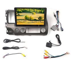 10.1 polegadas para android 9.1 jogador mp5 do carro 1 + 16g wifi fm tela grande jogador de vídeo gps adequado para honda civic 2006-2011