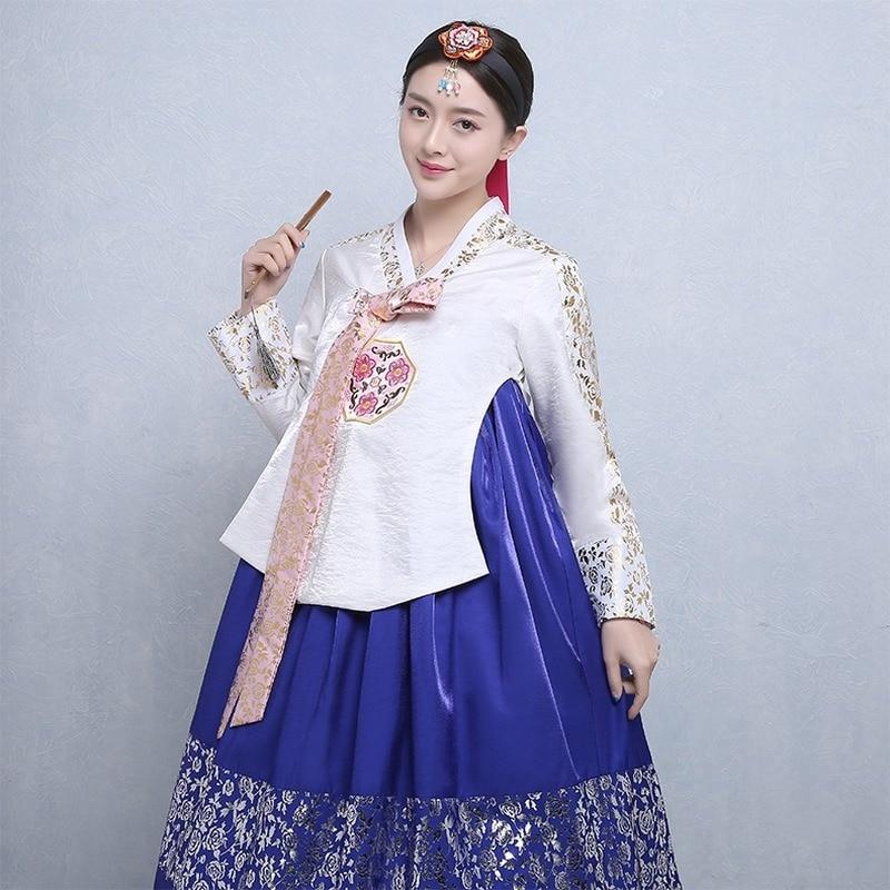 الكورية التقليدية السيدات قصر الزفاف البرنز الهانبوك الكورية الشعبية زي الرقص مرحلة أداء ازياء مهرجان ازياء