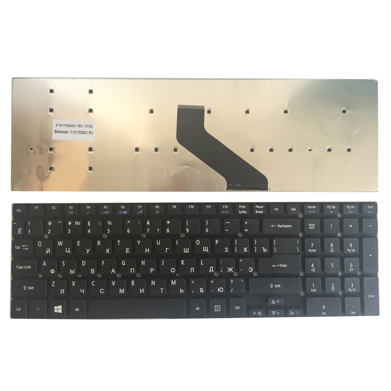 Russian Keyboard for Acer Aspire V3-571G V3-771G V3-571 5755G 5755 V3-531 V3-771 V3-551G V3-551 5830TG MP-10K33SU-6981