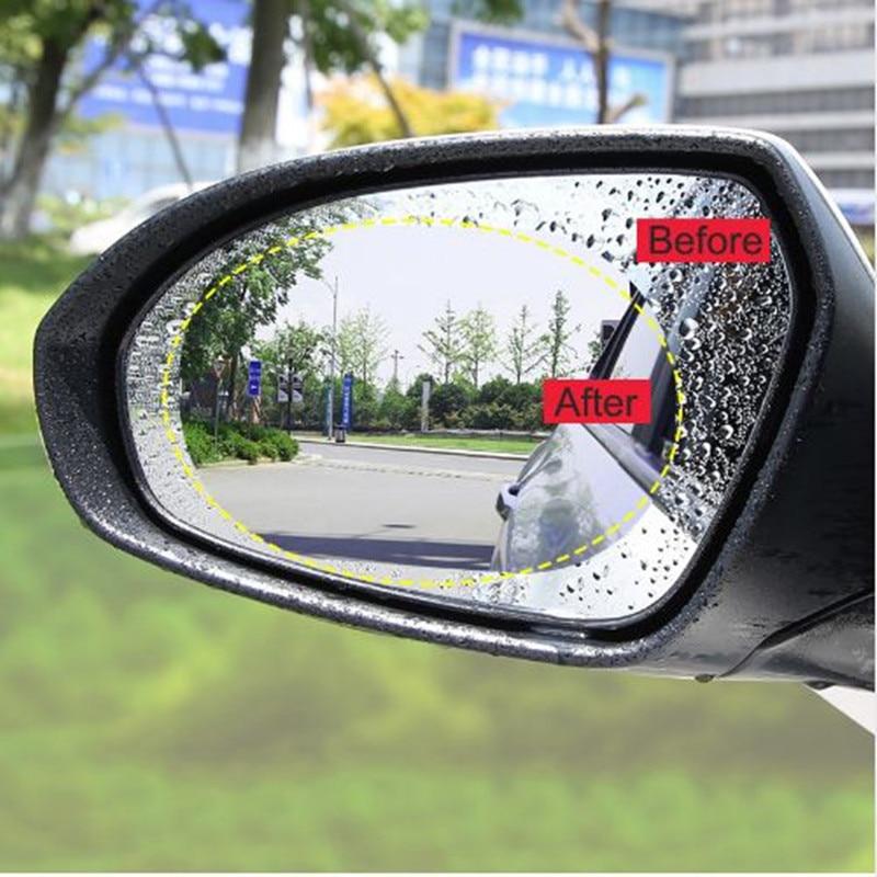 Зеркало заднего вида автомобиля анти туман непромокаемая Защитная пленка для Mercedes Benz W211 W203 W204 W210 W124 AMG W202 CLA W212 W220 W205