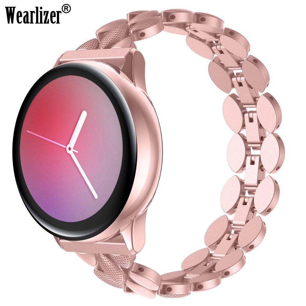 Correa de acero inoxidable para reloj Samsung Galaxy, pulsera clásica de 20mm de ancho, correa de Metal para reloj Samsung Galaxy 42mm