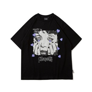 Men T Shirt Hip Hop Harajuku Cartoon Streetwear High Street Tshirt 2021 New Oversize Cotton Short Sleeve Male Couple T-Shirt