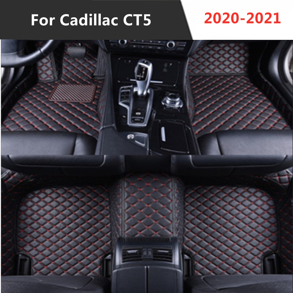 Para Cadillac CT5 (2020-2021), todos los años de cuero Auto alfombrilla de...