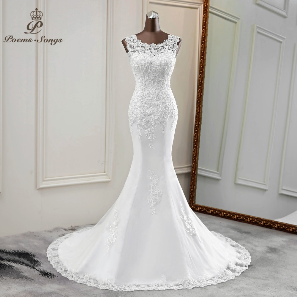 Nuevo vestido de novia elegante 2020 vestidos de novia corte sirena vestido de novia sirena vestidos de novia hermosos vestidos de novia apliques de boda