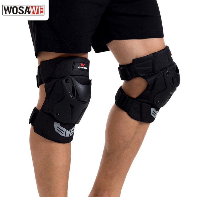 WOSAWE 1Pair Adult's Tactical Protective Knee Pads Extreme Sports Knee Protector Ski motorcycle Safety knee brace PE shell foam enlarge