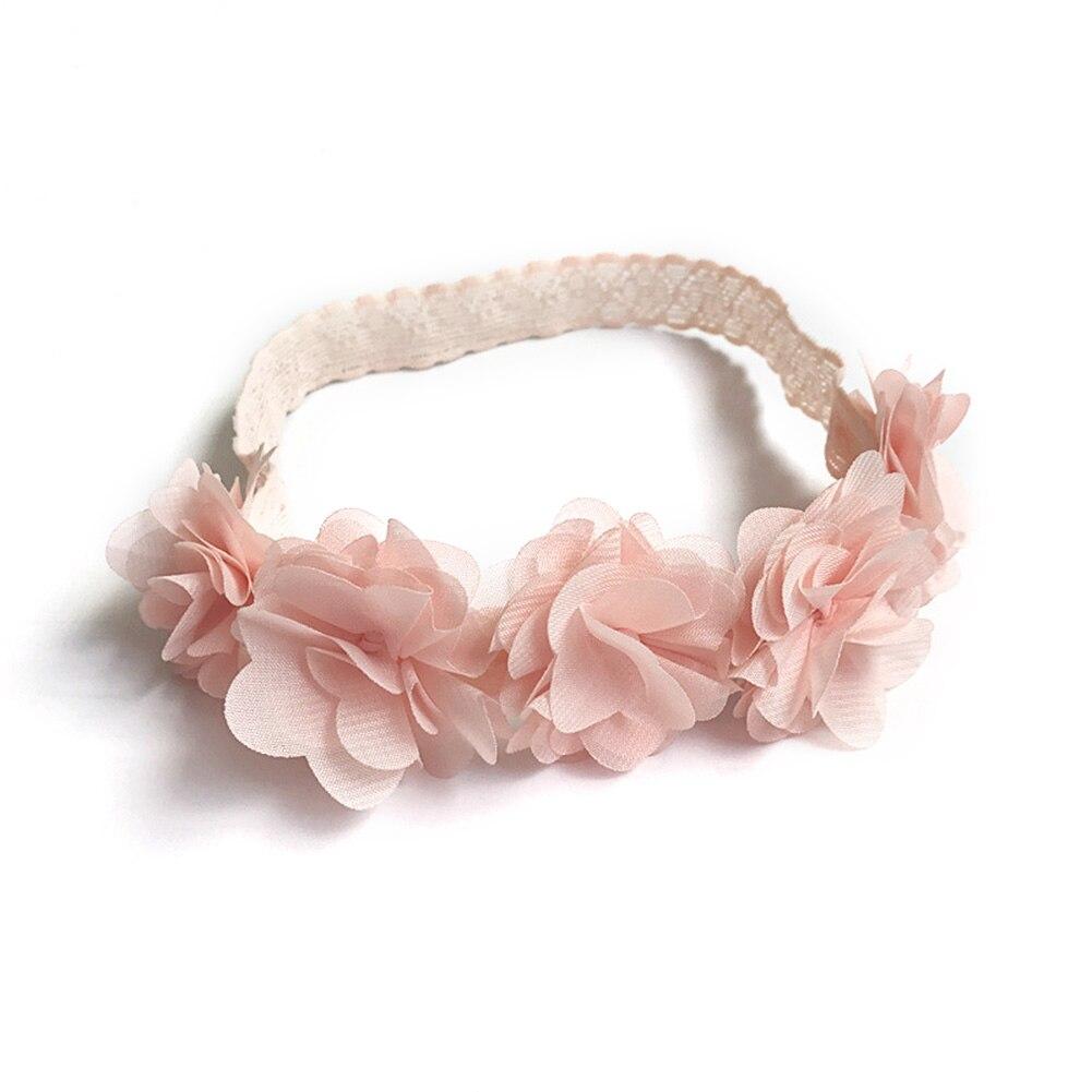Diadema estilo coreano para bebés y niñas decoración para el cabello cinco flores decoradas