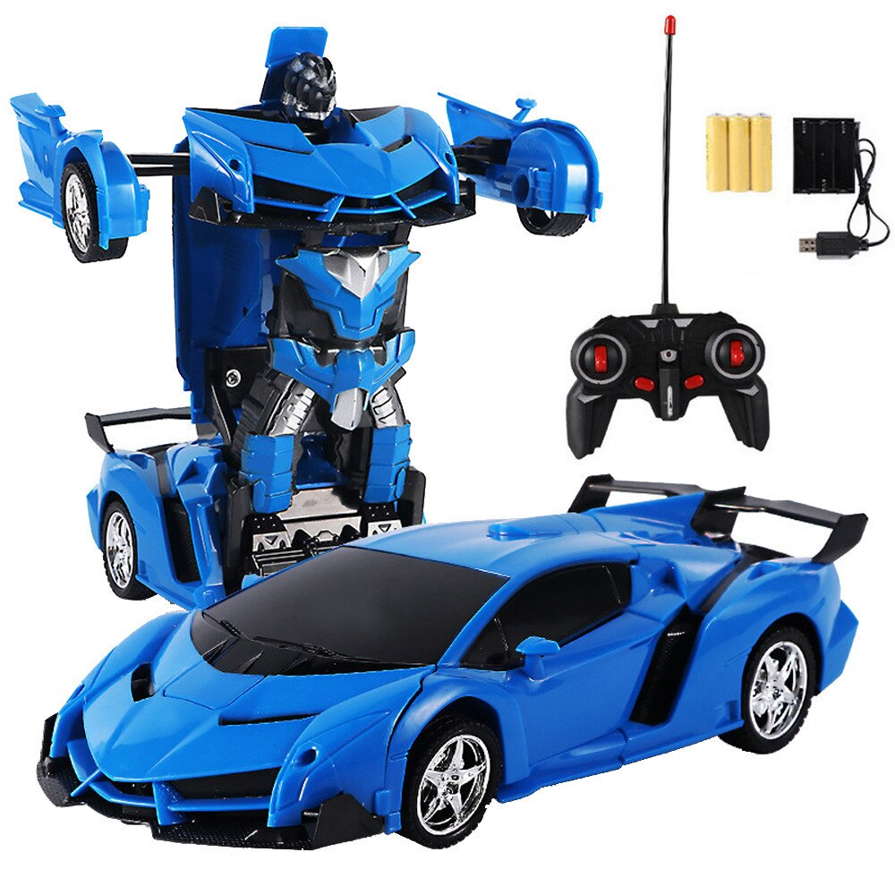 RC 1/18 Electrics Remote Control Car One Button Remote Control Deformable Vehicle Robot Toys for Boys Girls Kids Birthday Gift enlarge