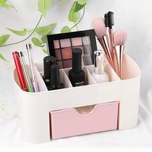 Boîte de rangement de produits cosmétiques   Organisateur de maquillage en plastique boîte de rangement de bijoux boîte de cosmétiques avec tiroir à tiroirs boîte de rangement divers de bureau organisateur de maison