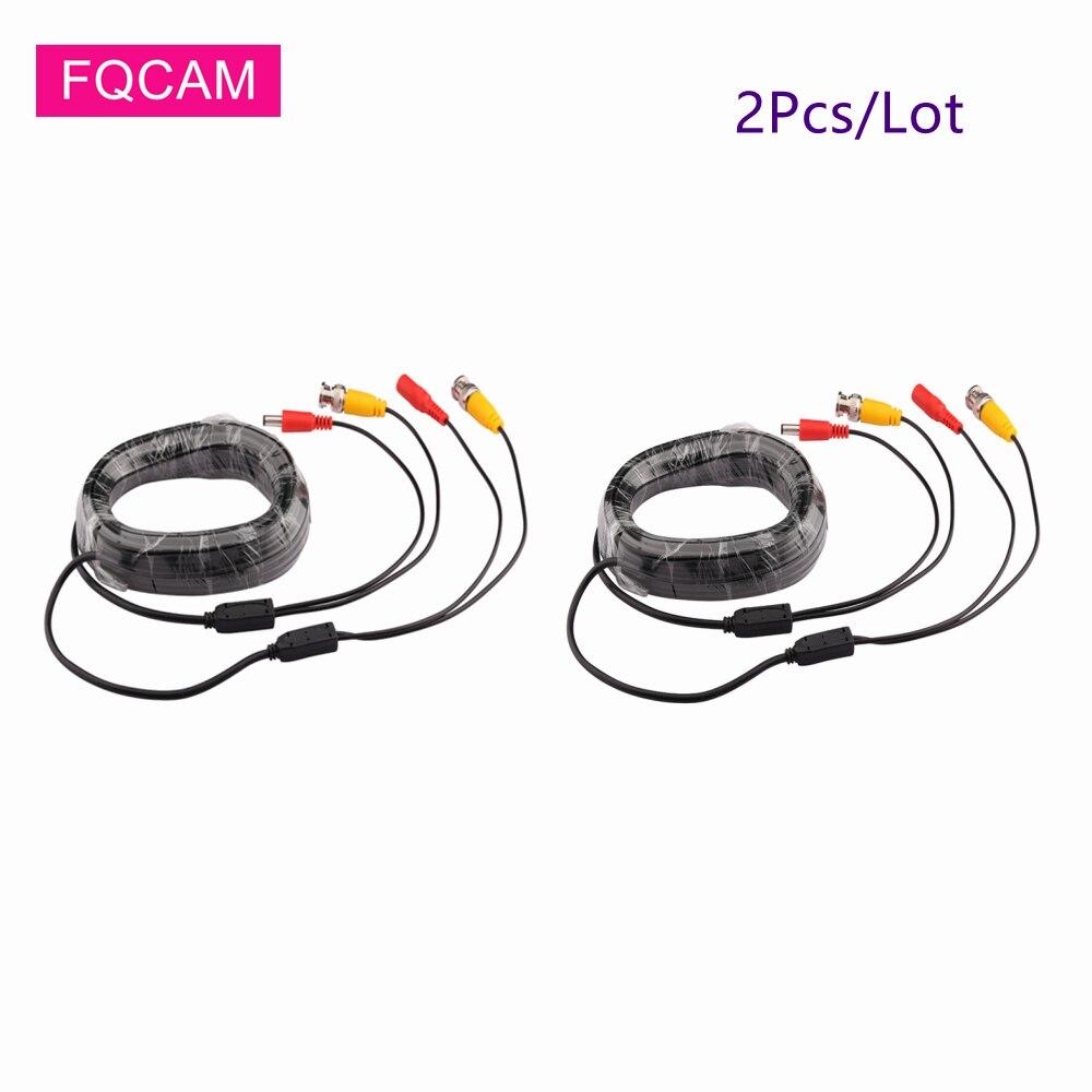 2 шт. AHD CCTV Камера BNC кабель постоянного тока 5, 10 м, 15 м, 20 м возможностью погружения на глубину до 30 м видео Выход Питание 2 в 1 безопасности кабе...
