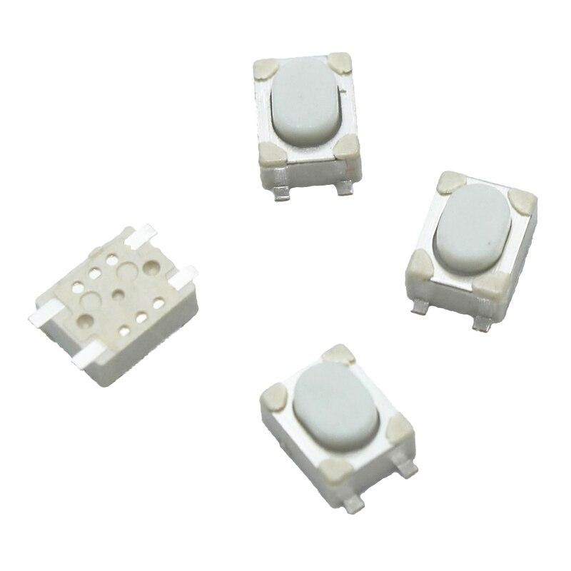 100 шт./лот 3*4*2,5 мм SMD Такт переключатель 4 Pin сенсорный Микро Переключатель кнопочные переключатели 3x4x2,5 H белая кнопка автомобильный пульт кнопка B