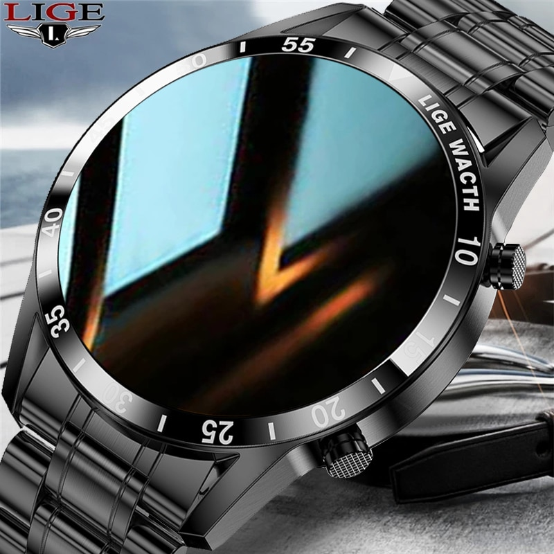 LIGE 2021 New Men Smart Watch Bluetooth Call Watch IP67 Waterproof Sports Fitness Watch For Android