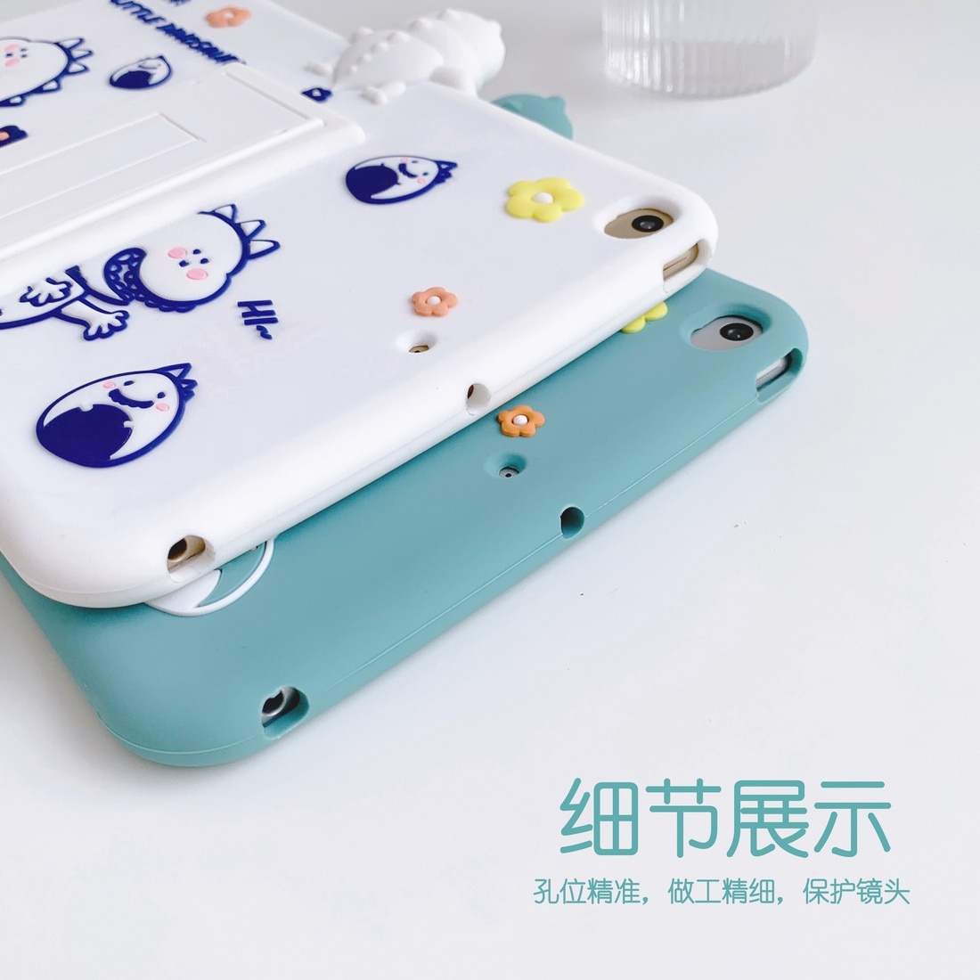 Case for iPad Mini 3 2 1 Case Silicone Soft Back Cover for iPad 9.7 Air 3 2 2019 10.2 Stereoscopic cartoon case enlarge