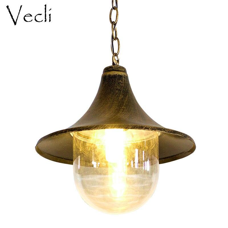 Lámpara impermeable europea para exteriores, balcón, pasillo, luces retro para jardín, iluminación de jardín, villa creativa