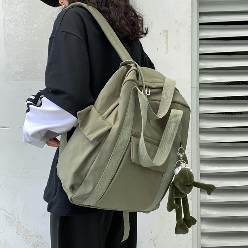 HOCODO-حقيبة ظهر مقاومة للماء من النايلون ، حقيبة مدرسية بسيطة للمراهقين ، حقيبة سفر ، حقيبة مدرسية