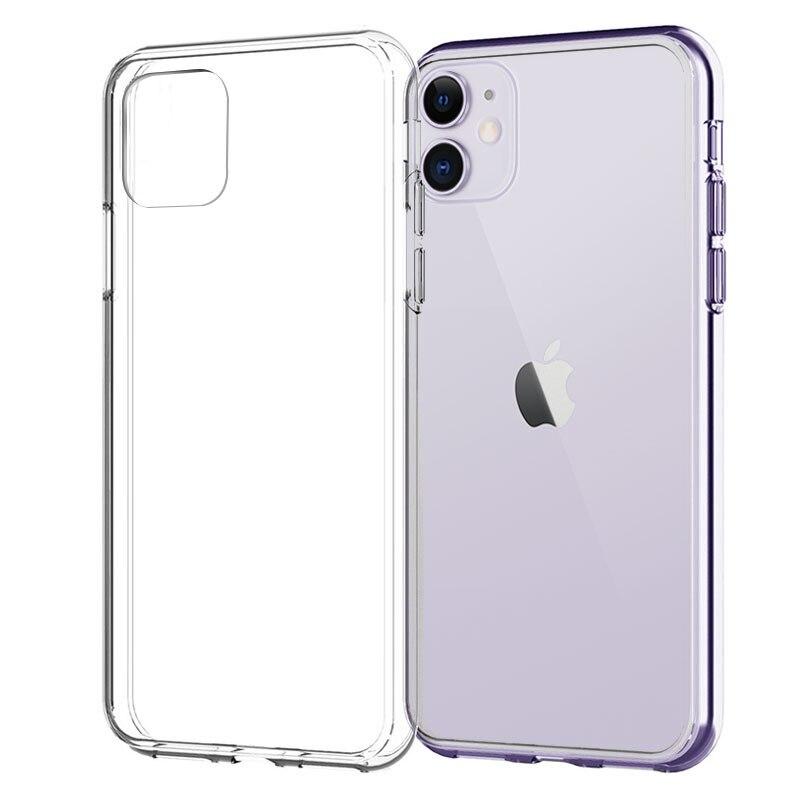 Funda de silicona blanda para iPhone 11 Pro X XR XS Max 4 5 6 7 8 Plus, funda transparente para iPhone SE 2020 11 XR